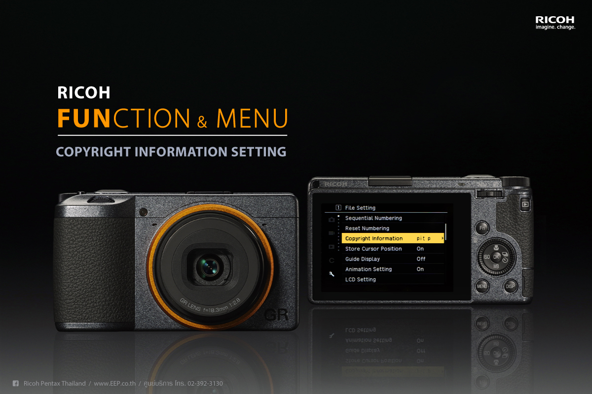 RICOH Function & Menu : Copyright Information Setting
