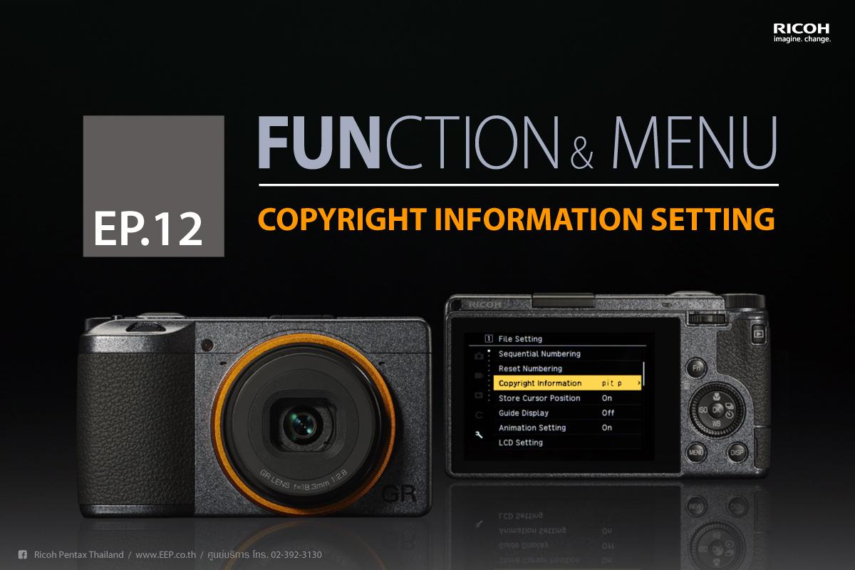 RICOH Function & Menu : Copyright Information Setting