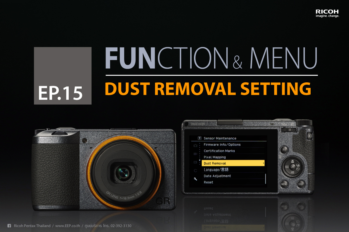 Ricoh Function & Menu : Dust Removal Setting